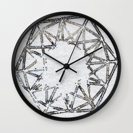 Melted geometry 2 Wall Clock