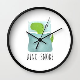 Dino-Snore Wall Clock