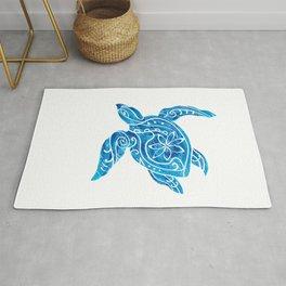 Vintage Hawaiian Tribal Turtle Rug