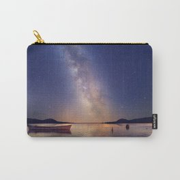 Lakeside sky and boat Carry-All Pouch