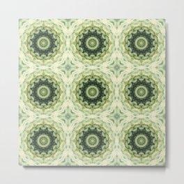 Ornament in Green gentle tones . Metal Print