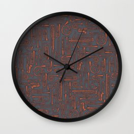 Horns COPPER Wall Clock