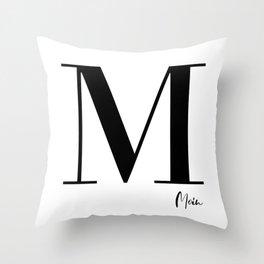 M - Moin Throw Pillow