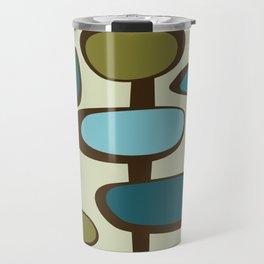 Mid Century Modern Baubles (teal) Travel Mug
