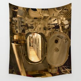 The USS Batfish SS-310 - The Torpedo Room Bulkhead View of the Officers' Quarters Wall Tapestry