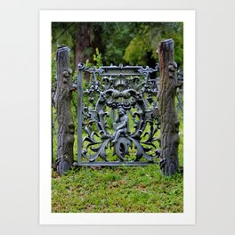Lovely Cemetery Gate Art Print