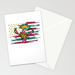 Mardi Gras Crawfish Costume - US Flag Crawfish Stationery Cards