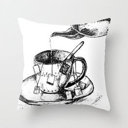 Tea Strength Maximum Throw Pillow