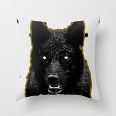 Just Wolf. Throw Pillow