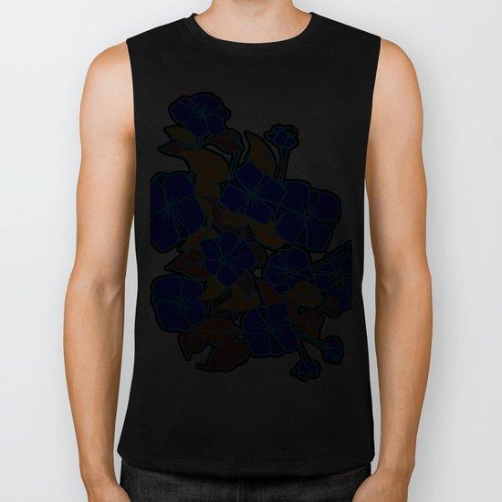 Blue Violets Biker Tank