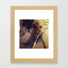 Luna Snow Puppy Framed Art Print