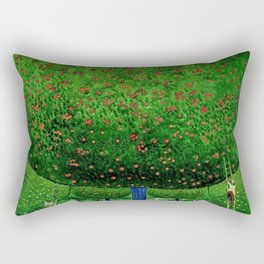 Apple Pickers, Autumn, Apple Orchard landscape by Cuno Amiet Rectangular Pillow