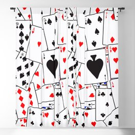 Random Playing Card Background Blackout Curtain