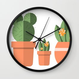 Potted Plant Family Wall Clock