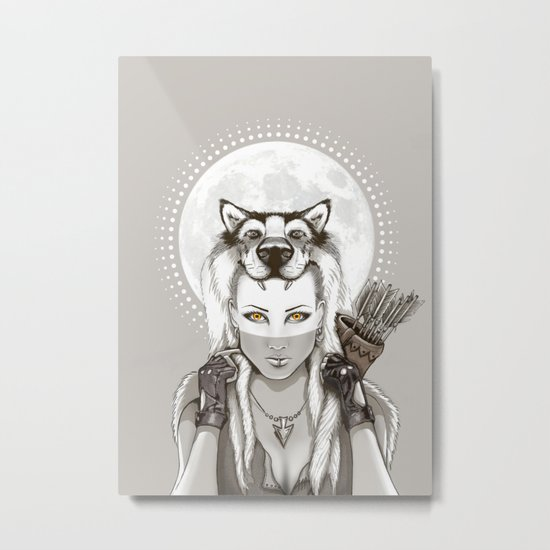 Fear Makes the Wolf... Metal Print