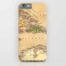 Map Of The Caribbean 1828 iPhone Case