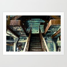 Original Rainier Brewery Stairs Art Print