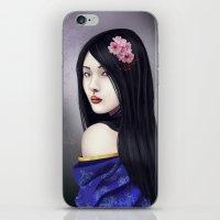 geisha iPhone & iPod Skins featuring Geisha by Gosia
