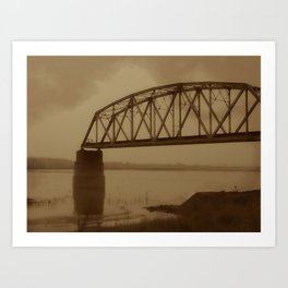 The Old Railway Bridge Art Print