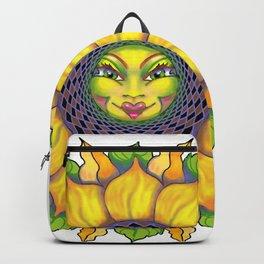 Sunflower Sunshine Girl by Amanda Martinson Backpack