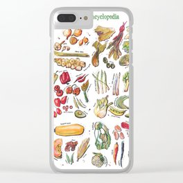Vegetable Encyclopedia Clear iPhone Case