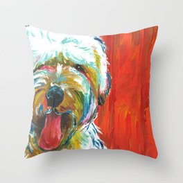 Soft-Coated Wheaten Terrier // Colorful  Throw Pillow