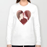 lovers Long Sleeve T-shirts featuring Lovers by Pendientera