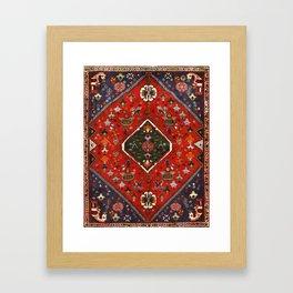 Red & Blue Vintage Bereber Moroccan Bohemian Artwork. Framed Art Print