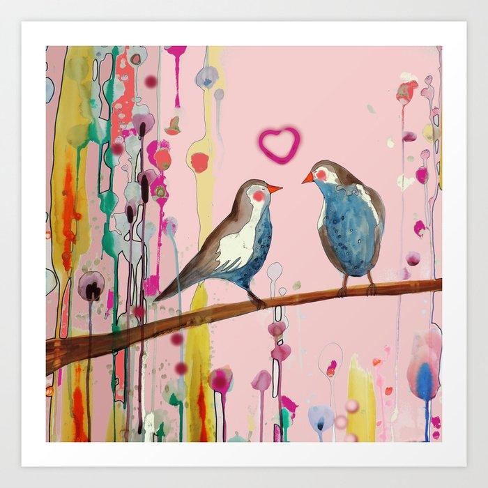 valentine et valentin Art Print