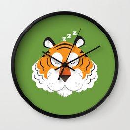Sleepy Tiger Wall Clock
