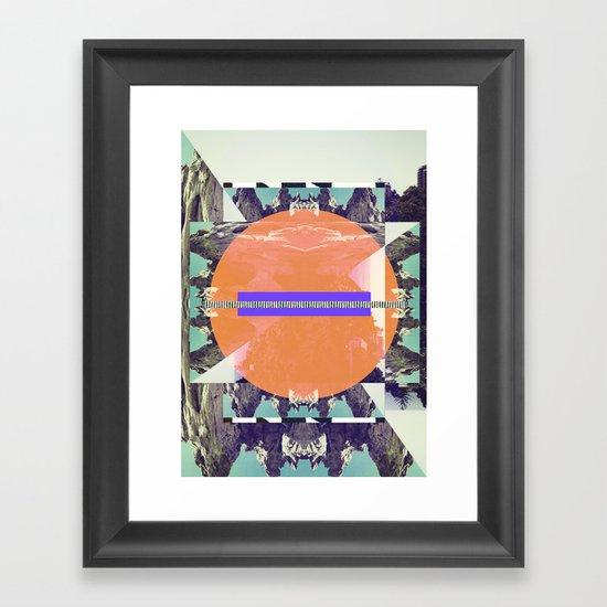 Ombre Mountains Framed Art Print
