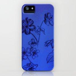 Blue Botanical iPhone Case