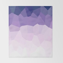 Purple Watercolor Crystals Throw Blanket