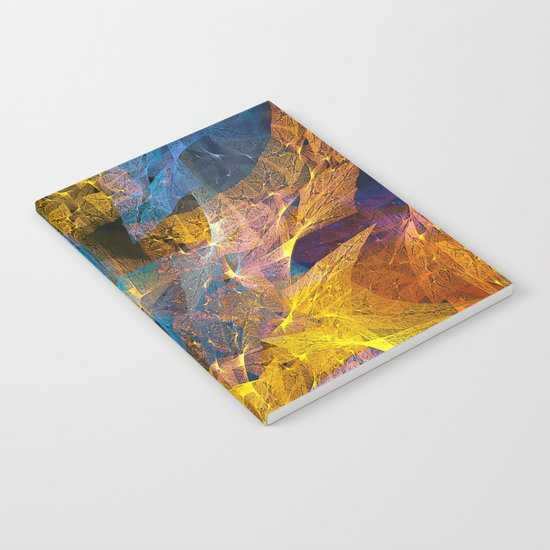 Gold & Blue Abstract Notebook