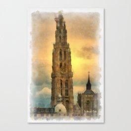 Onze-Lieve-Vrouwe Toren  Antwerp Canvas Print