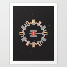 Interstellar Endurace Spaceship Art Print