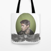 winchester Tote Bags featuring Dean Winchester by H.R. Feary