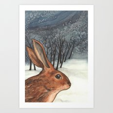 Ten of Rabbits Art Print