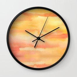 Apricot Sunset Wall Clock