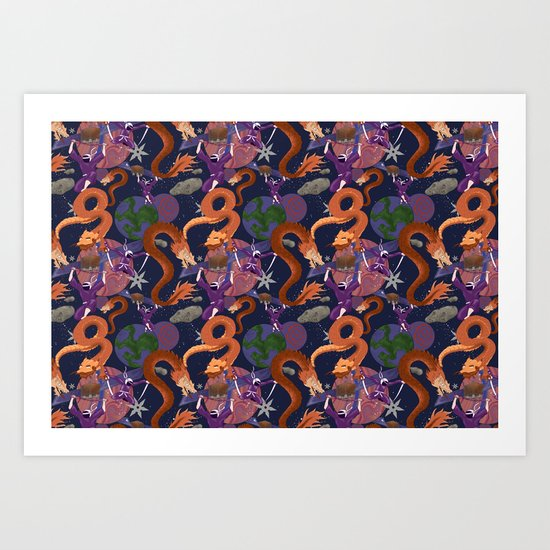 Space Ninja Art Print
