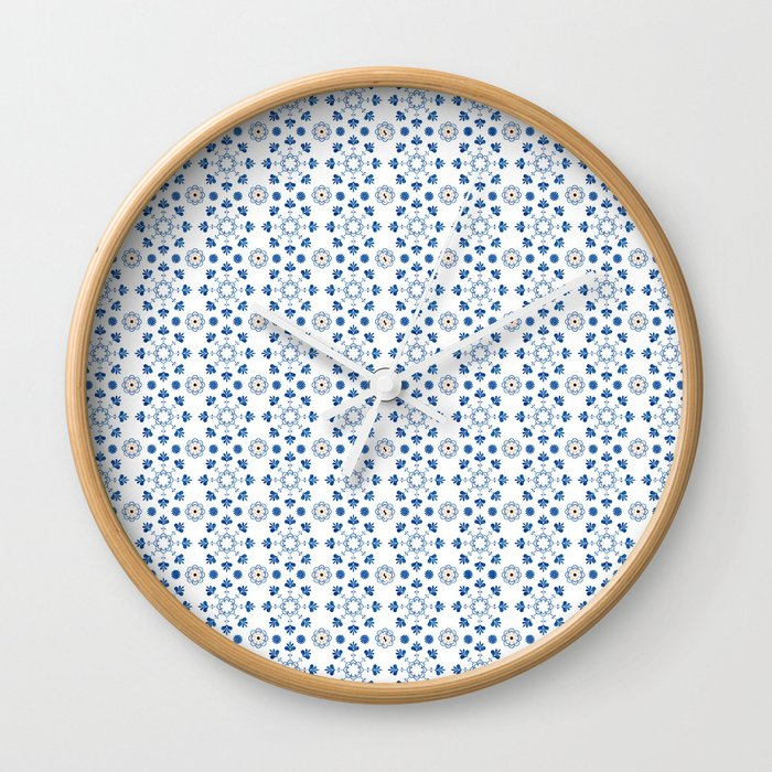 Bathroom Tile Decal Spanish Tiles Blue White Moroccan Tiles Cottage Chic Portuguese Tiles Wall Clock By Lubo
