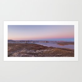 Panorama of Lake Powell at sunset Art Print