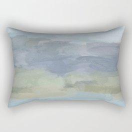 Sky Gray Blue Sage Green Abstract Wall Art, Painting Art, Lake Nature Painting Print, Modern Rectangular Pillow