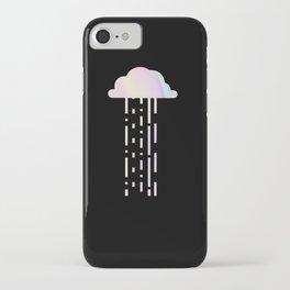 Holographic Rainbow Minimalist Raincloud iPhone Case