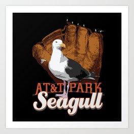 AT&T Seagull Art Print