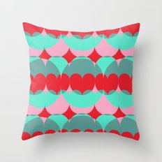 Abstract Popcorn Tub Throw Pillow