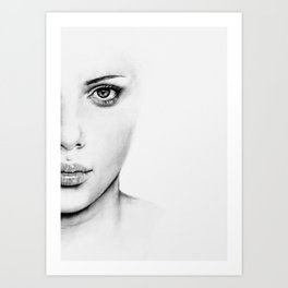 Barely Scarlett  Art Print