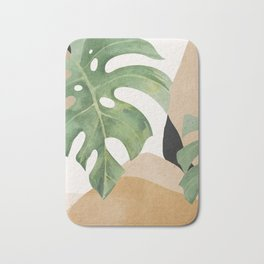 Abstract Art Tropical Leaves 3 Bath Mat