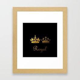Royal King & Queen Framed Art Print
