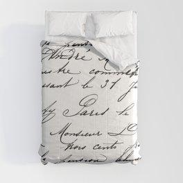 Antique French Script Comforters
